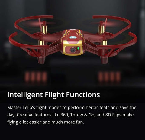 NEW DJI Tello Drone 2019 IRONMAN Edition