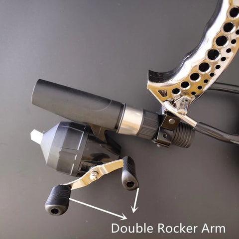 bowfishing reel mount close up look