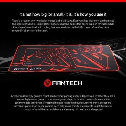 fantech gaming mouse pad variants