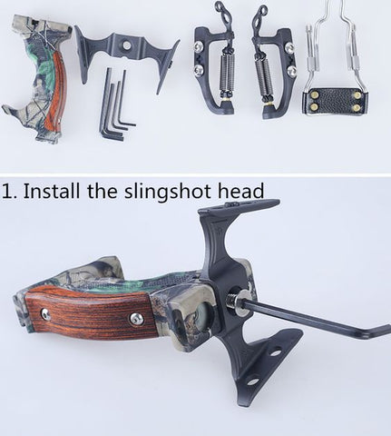 Strong handle slingbow accessories hunting slingshot