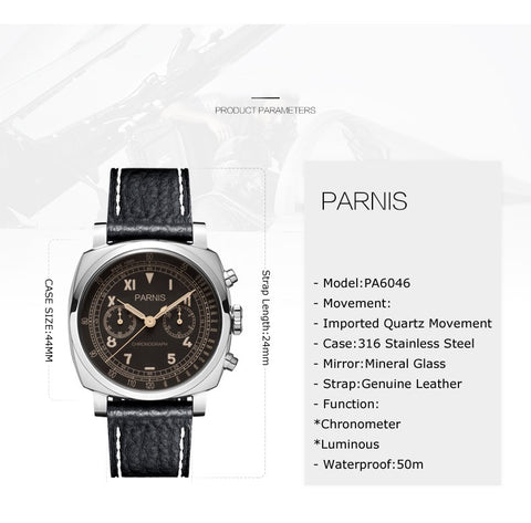 Parnis Series Pilot Air Watches-Hue&Shades