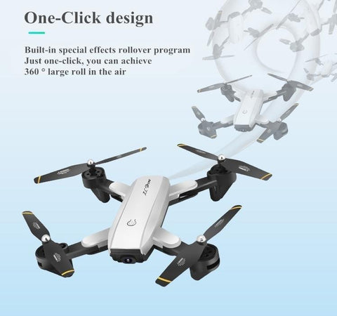 One click rollover command quadcopter drone