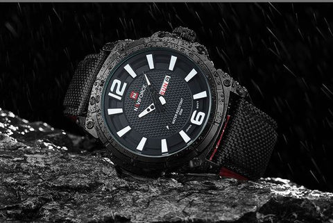 naviforce watch on ground wet
