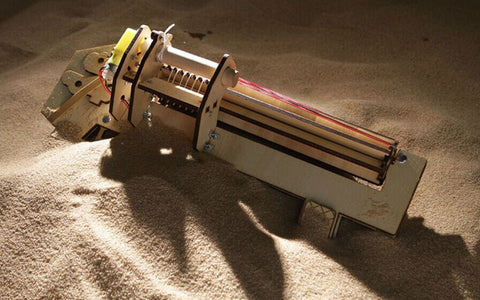Rubber Band Machine Gun Electric Driven Toy Gun-Hue&Shades