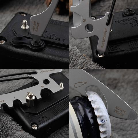 Edc 1991 multi-tool keychain for use as bottle opener screw driver