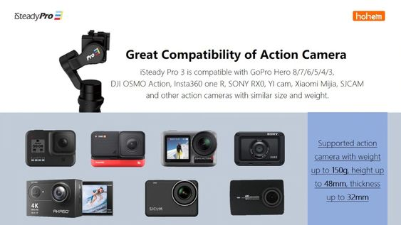 iSteady Pro 2 Gimbal Compatibility