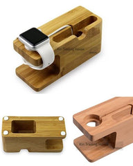 Bamboo Wood Charger Station
