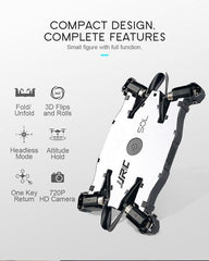 JJR/C JJRC H49 SOL Ultrathin Wifi FPV Selfie Drone 720P Camera Auto Foldable Arm Altitude Hold RC Quadcopter VS H37 H47 E57-hue and shades