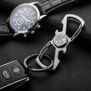 Monogram Spinner Keychain with Bottle Opener-Hue&Shades