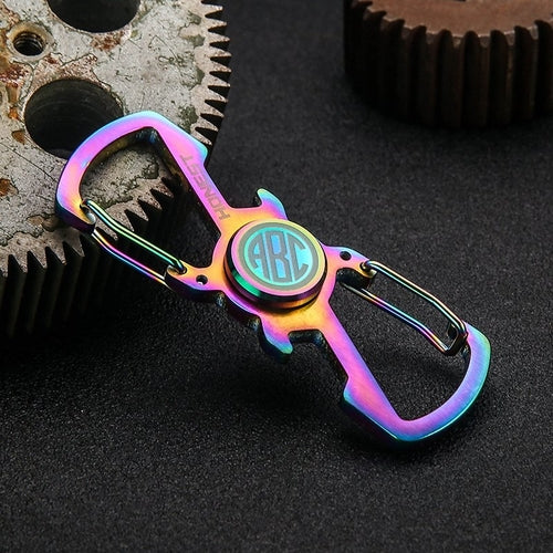 Monogram Spinner Opener Carabiner Keychain rainbow color- hue and shades