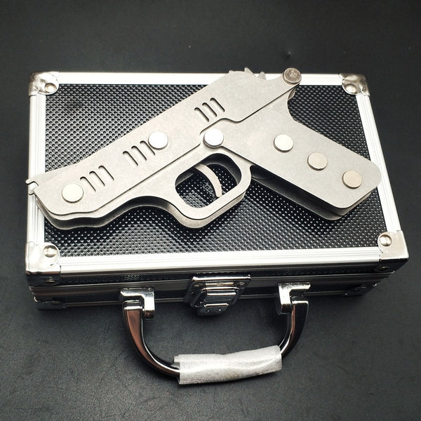 Metal Rubber Band Gun Shooter with steel case-Hue&Shades
