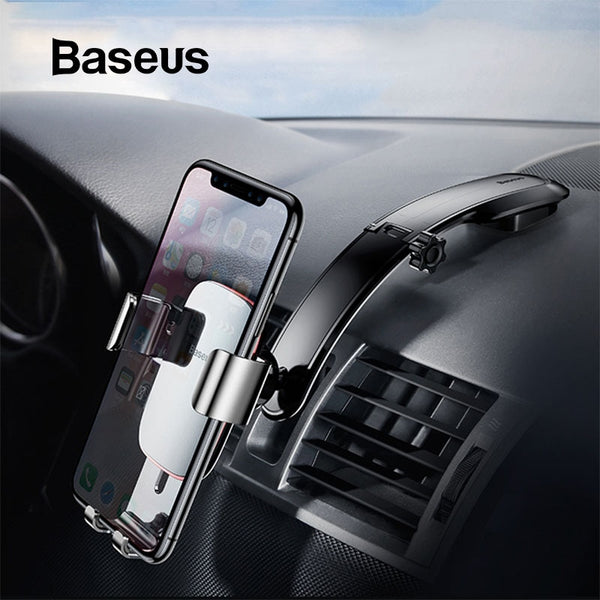 Baseus Metal Car Phone Vent Mount Holder For iPhone Samsung