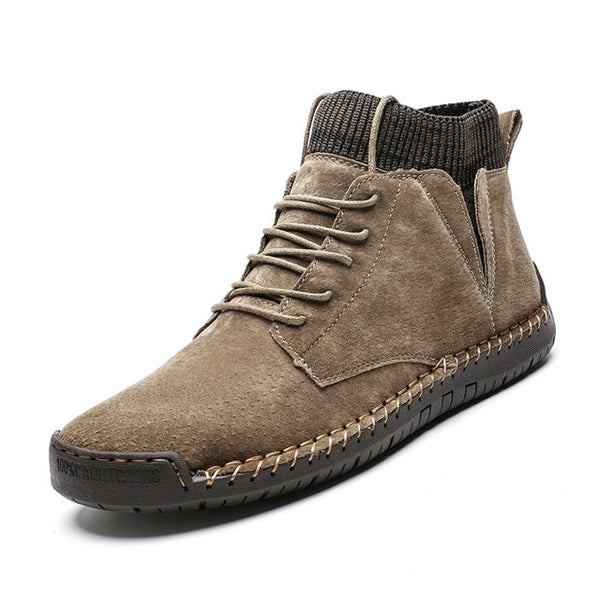 Men's Lace-Up Non-slip Ankle Boots-hue&shades