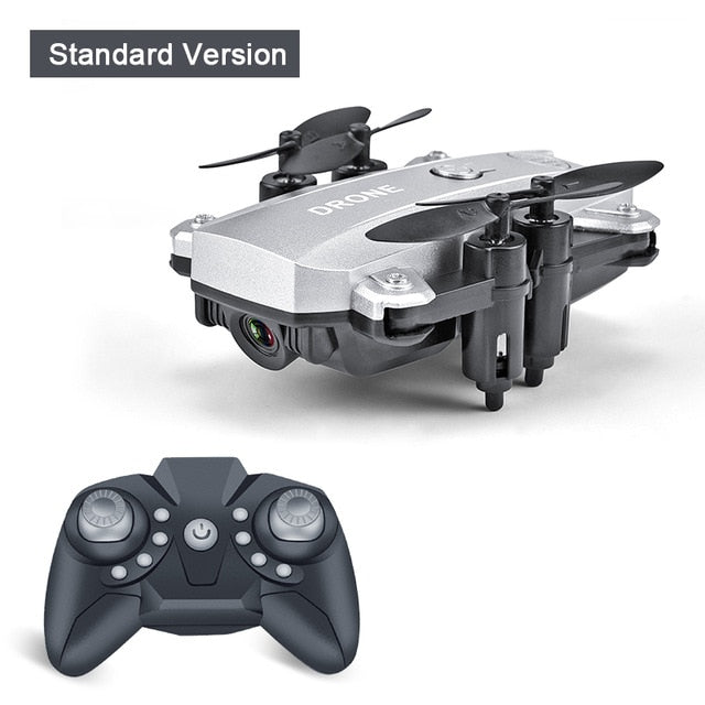 Silver color Foldable Mini RC Drone Quadcopter with standard  HD Camera-Hue&Shades