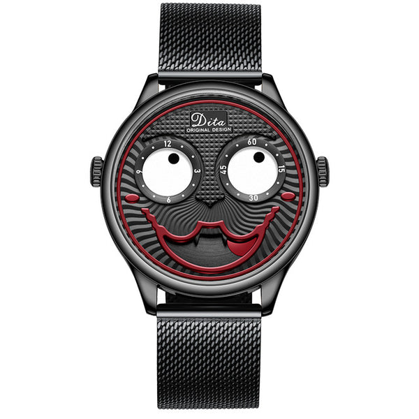 Unique Joker Personality Tungsten Steel Designer Quartz Watches-hue&shades