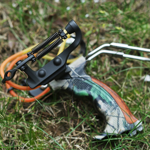 Professional Hunting Slingshot Strong Round Rubber Band Catapult