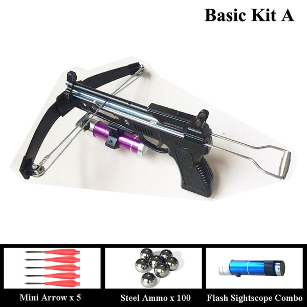 AMY Crossbow Slingshot with Sight-scope and Fishing Reel