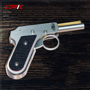 P80 Stainless Steel Frame Rubber Band Gun With 6 Consecutive Shot Launcher-hue&shades