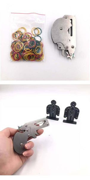 MINI Folding Design Rubber Band Gun Revolver-hue&shades