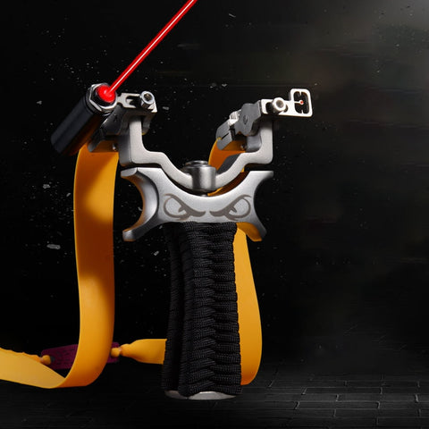 360 Degree Rotating Stainless Steel Frame Hunting Slingshot