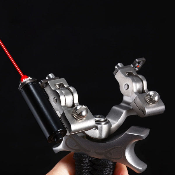 red dot pointer rotating bow head slingshot