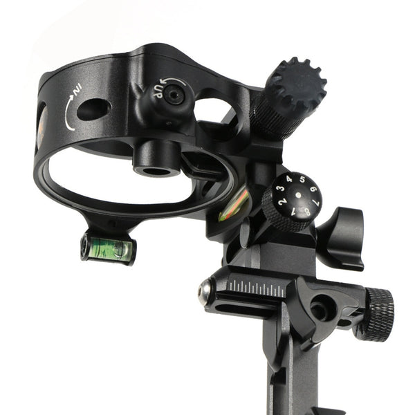Black compound bow sight