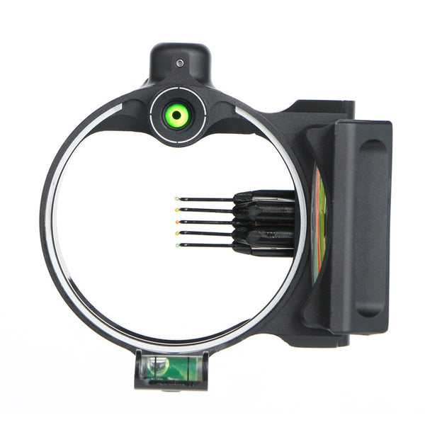 5 pin fiber optic compound bow sight