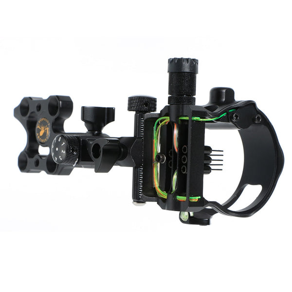 5 needle pin compound bow sight with light