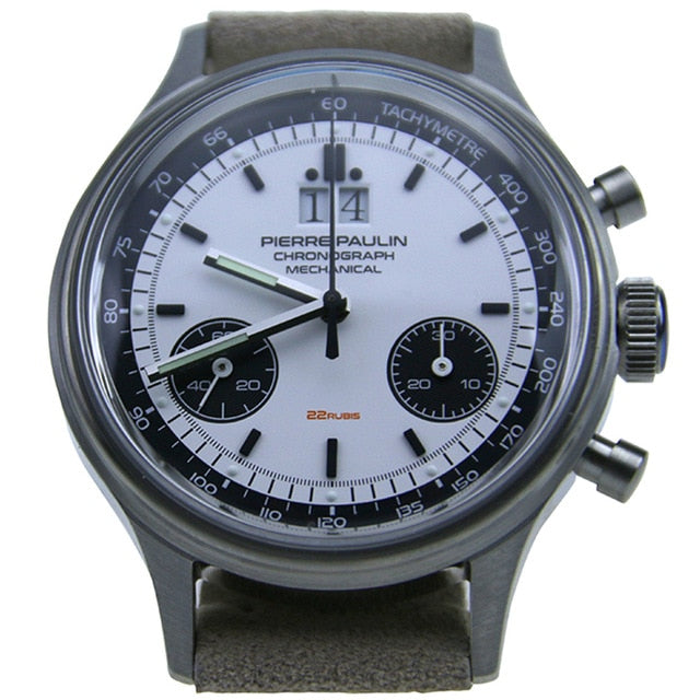 Pierre Paulin ST1901 Pilot Air Watches with 2 sub dials