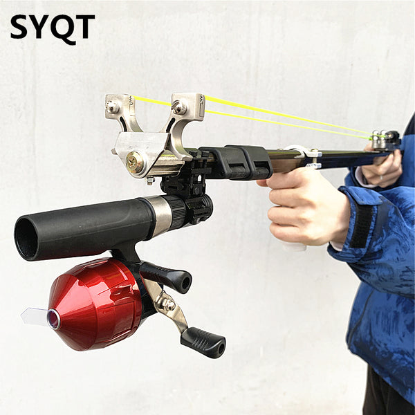 QT Retractable Hunting slingshot with fishing reel