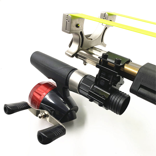 flat band fishing slingshot with reel