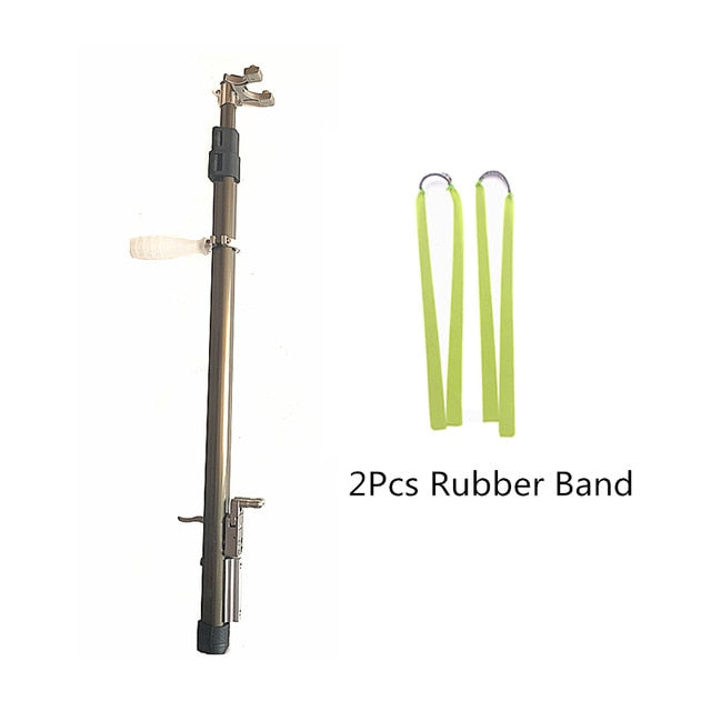 Retractable Hunting Slingshot with 2 pcs rubber band