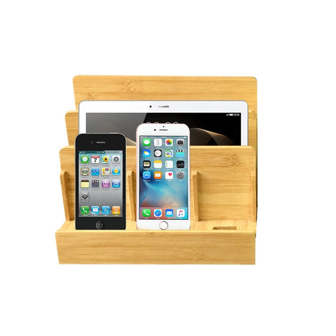 SOLAFAMI Multi-Function Bamboo Wood Charge Station - hue and shades