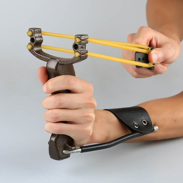 TopArchery Powerful Target Shooting Slingshot with Folding Wrist Guard