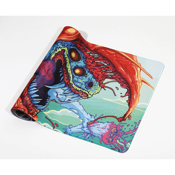 Large gaming mouse pad anime monster design