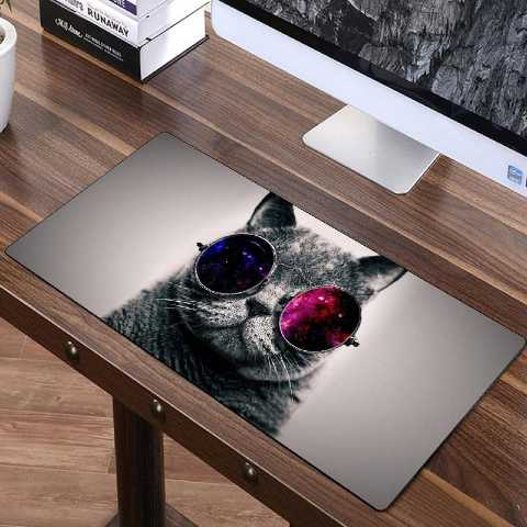 FFFAS 70x30cm Cute Animal Cat and Dog Mouse Mat  Big Size Mouse Pad