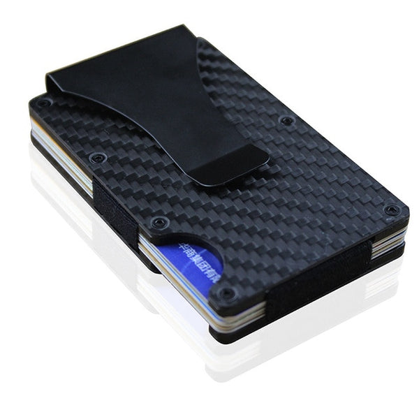 Valink Carbon Fiber Credit Card Holder RFID - hue and shades