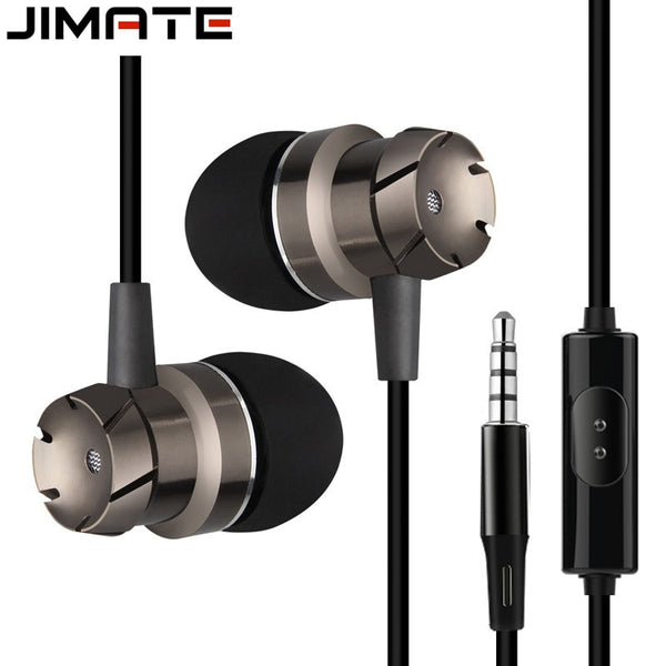 Jimate 3.5mm Wired Earphone Stereo Rose Gold