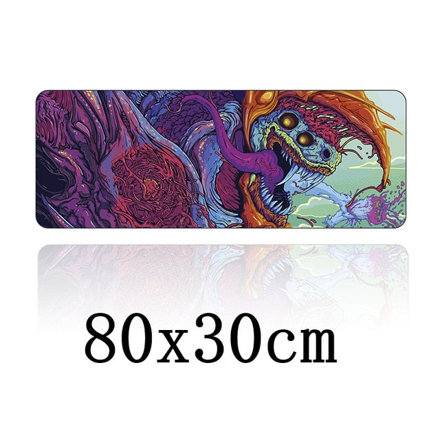 Large gaming mouse pad size