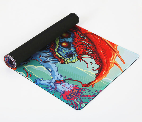 Large gaming mouse pad folded