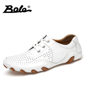 bole white casual mens loafers