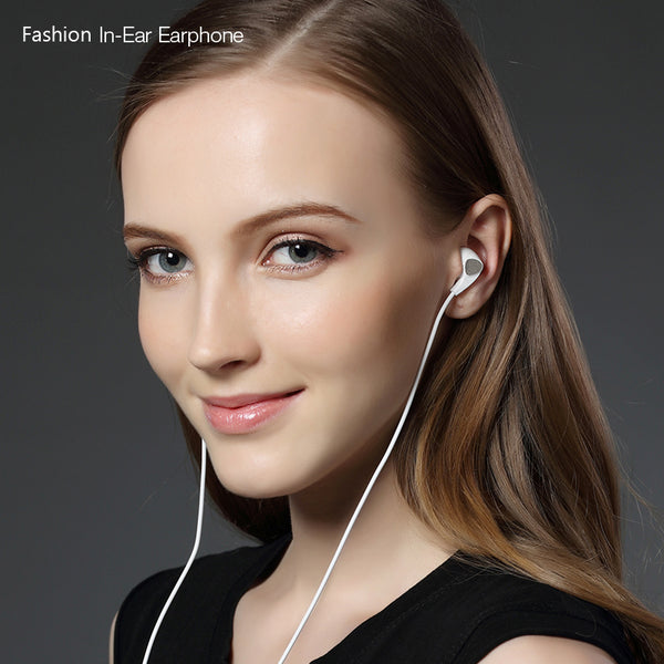 PTM P10 Earphone Half In Ear Headset Stereo Earbuds with Microphone for Mobile Phone PC Gaming Audifonos Fone de ouvido