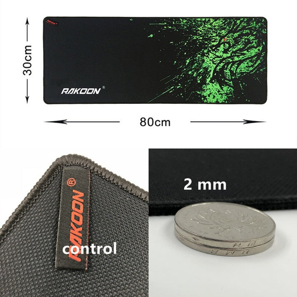 Rakoon Green Dragon Large Gaming Mouse Pad Lockedge