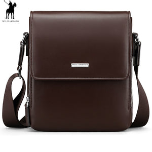 William Polo Man Genuine Leather Messenger Business Handbags - hue and shades