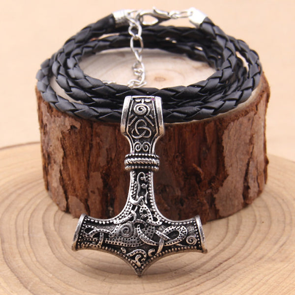 Mjolnir pendant necklace scandinavian norse viking necklace