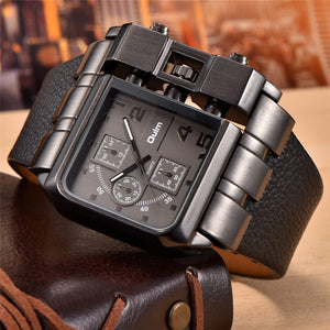 Oulm 3364 Casual Square Dial Wide Strap Men's Quartz Wristwatch