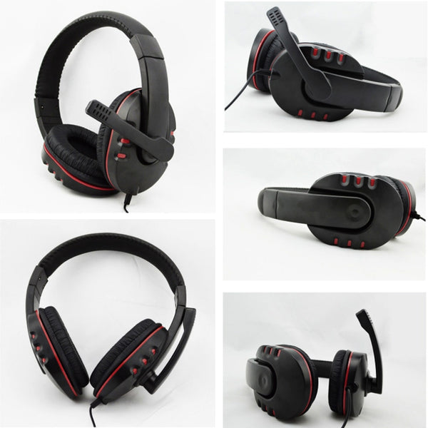 Wired Headphone 3.5mm Gaming Headset Headphone Earphone Music Microphone For PS4 Play Station 4 Game PC Chat