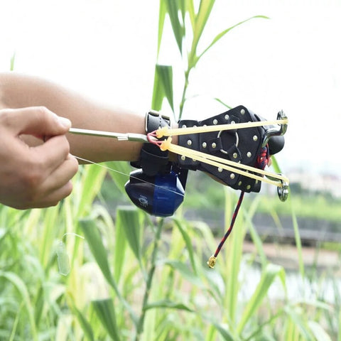 Fishing Slingshot with Arrow Darts And Reel-Hue&Shades