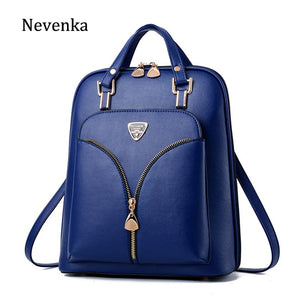 Nevenka Anti Theft Leather Backpack Women Mini Backpacks Female Travel Backpack for Girls School Backpacks Ladies Black Bag 2018