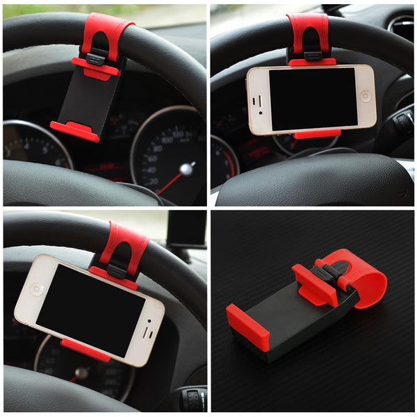 Universal Car Steering Wheel Clip Mount Holder for iPhone